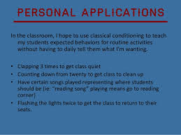 Classical Conditioning In The Classroom Classical Conditioning In The Classroom