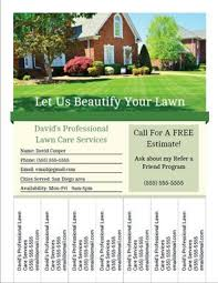 Sample Flyers For Landscaping Business Printable Landscaping And Lawn Care Business Flyer Templates