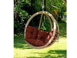 wooden hanging chair single terracotta swing from tree chairs outside wooden hanging chair