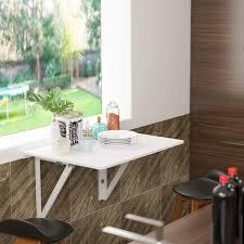 Homfa Wandtisch Klappbar 80x60cm Weiß Mit 2 Halterungen Klapptisch
