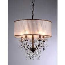 warehouse of tiffany scott 6 light antique bronze chandelier with shade