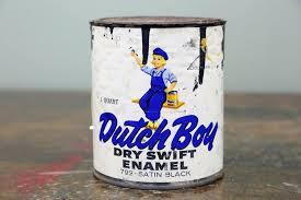 details about 1950s dutch boy dry swift enamel 1 quart advertising paint can vintage old