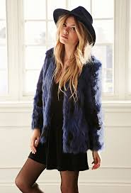 navy fur jackets forever 21 collarless two tone faux fur jacket