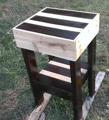Pallet furniture How to make a pallet end table YouTube