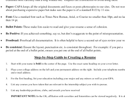Bullet Point Resume Template Updated Bullet Point Resume Template