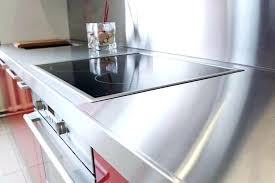 Attractive Stainless Countertop Black Microwave Steel Countertops Cost Comparison  Countersunk Screws