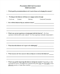 Teacher Self Assessment Form Completing A For Work Example ...