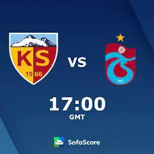 Kayserispor vs Trabzonspor live score, H2H and lineups