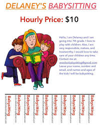 Babysitting Ads Child Care Babysitting Day Care Custom Text Color Flyers Teaching