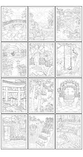 Digital coloring page of the garden for adults for stress relief. 12 Free Printable Garden Coloring Pages For Adults