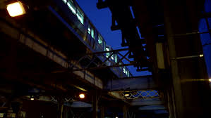 Image result for train in the dark nights with window lights