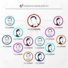 Creative Organization Chart Design Creative Organization Chart Infographic Design Template Vector
