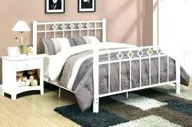 Cheap Black Metal Bed Frames Queen Size Wrought Iron Bed White Iron ...
