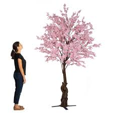 Fake Cherry Blossom Tree With Lights 10ft Tall Large Fake Cherry Blossom Bloom Tree Blush Light Pink