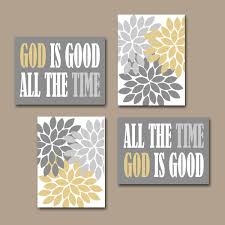 zoom on christian canvas wall art uk with god is good all the time wall art religious quote home flower