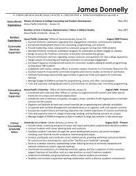 Non Profit Resume Activity Director Resume Winning Non Profit Development Sample For 39