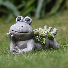 is a perfect addition to your yard because of its unique shape and style high quality the garden frog statue is handcrafted and made from durable