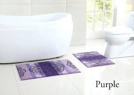 2 piece low pile plush bath rug set with design and non slip backing sizes plush bathroom rugs
