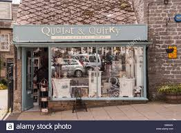 The Quaint & Quirky shop store at Leyburn in the Yorkshire Dales in  Yorkshire , England , Britain , Uk