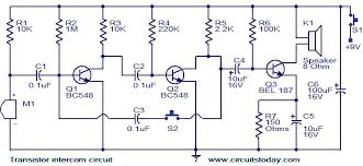 transistor intercom circuit electronic circuits and diagram transistor intercom circuit jpg connection diagram