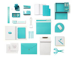 modern office desk accessories. poppin aqua desk accessories modern office supplies workhappy f
