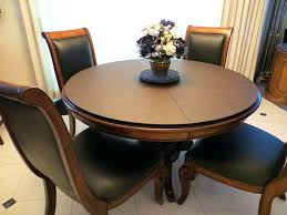 plus size dining chairs 5 pieces dining set with round pedestal dining table plus dining table pad and black leather upholstered dining chairs also flower