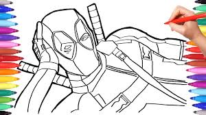 marvel deadpool coloring pages how to draw deadpool superheroes coloring book for kids