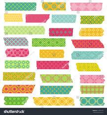 Sticker Design For Scrapbook Set Ribbons Stickers Design Scrapbook Vector Stock Vector