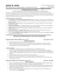 Professional It Resume Samples Best Teacher Resume Example Cover