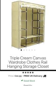 canvas closet triple cream canvas wardrobe clothes rail hanging storage closet in high canvas hanging closet canvas closet