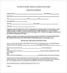 I also completed all of my fmla requests and paperwork with this information. Free 16 Return To Work Medical Form Templates In Pdf Ms Word