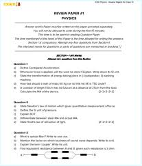 Light And Optics In Class Review 1 Answers Icse Physics Solved Review Papers For Class 10 Icse