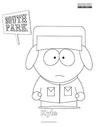 Kyle South Park Coloring Page Super Fun Coloring