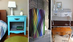 diy furniture makeover. 27 Cool DIY Furniture Makeovers With Wallpaper Diy Makeover F