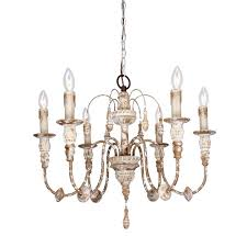 distressed antique white chandelier more views 6 light wood chandelier distressed antique white