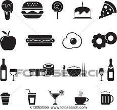 食物と飲み物 アイコン クリップアート