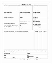 Pro Forma Invoice Examples Best Of Proforma Invoice 13 Free