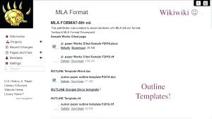 Mla Format Word Template Turkeytravel Co