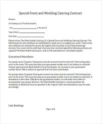 Catering Contract Agreement Enchanting Template For Catering Deposit Agreement 48 Catering Contract