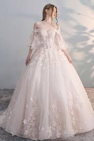 <b>Light champagne</b> tulle <b>lace</b> applique long prom dress, <b>champagne</b> ...
