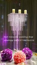 hanging crystals for wedding centerpieces. free shipment 10pcs/lots clear stand /clear base/clear hanging bead /90cm tall 35cm diameter/clear crystal wedding centerpiece crystals for centerpieces r