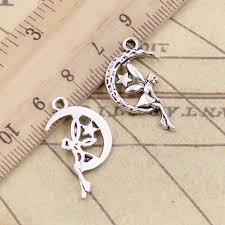20pcs Charms howling wolf 15x15mm Tibetan Silver Plated ...