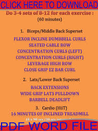 hiit workout plan at home luxury back workouts workouts