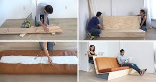 this tutorial for a diy modern couch teaches you how to create a couch with a