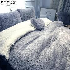 queen duvet set solid modern winter queen bedding set twin full king warm bed linings home queen duvet set