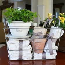 Charming Housewarming Gifts Ideas Basket Flower Pot