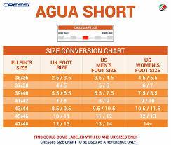 Cressi Agua Short Swim Fins Size 7 8