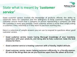 Great Customer Service Means Customer Service Level 1 Working In A Customer Services