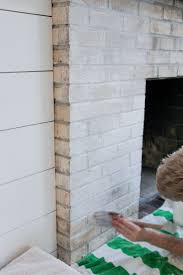 How To Whitewash Brick How To Whitewash Your Brick Fireplace With Milk Paint The
