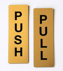 pull door sign. Perfect Pull Push Pull Door Signs Set With Sign